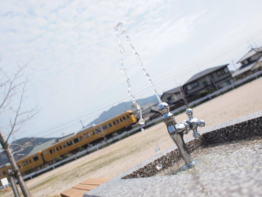 電車の水浴び