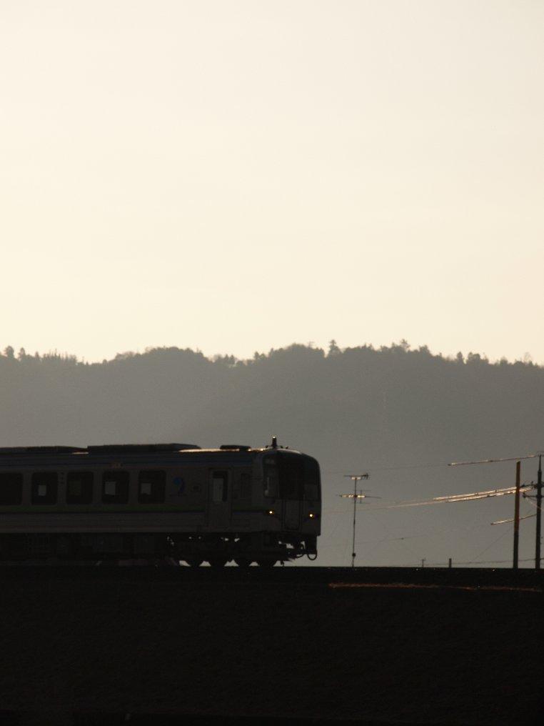 朝陽の井原鉄道