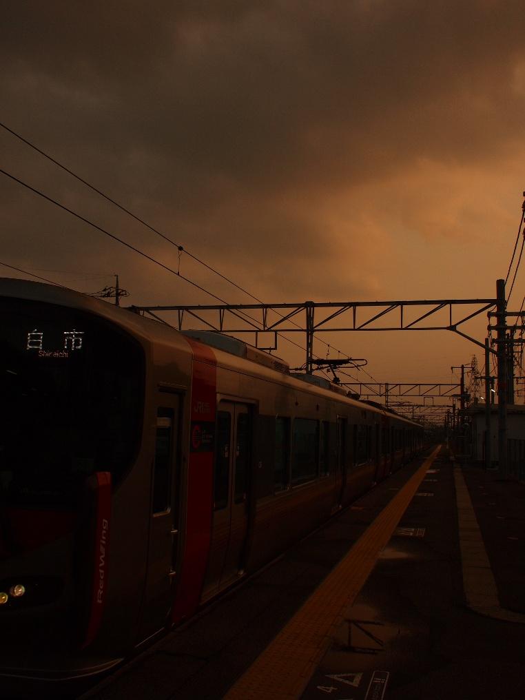 大野浦駅に入線したRedWing