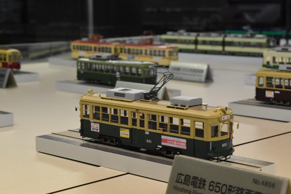 ヌマジ交通ミュージアムの車両模型