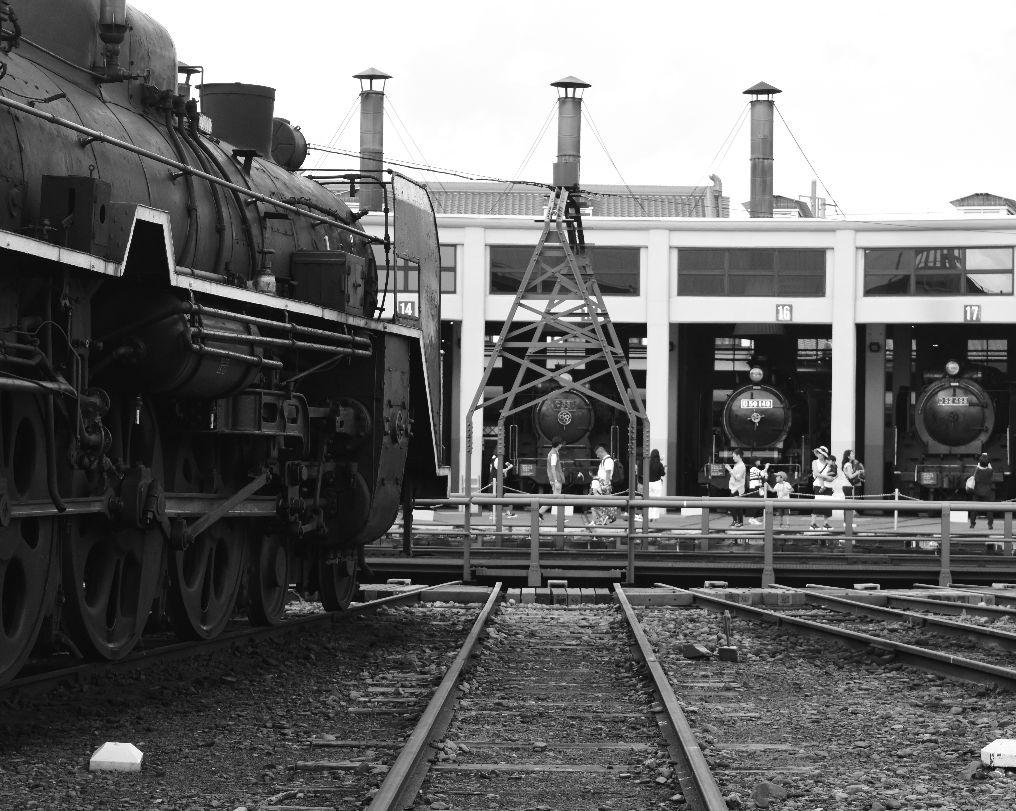 並んだ蒸気機関車、思わずため息