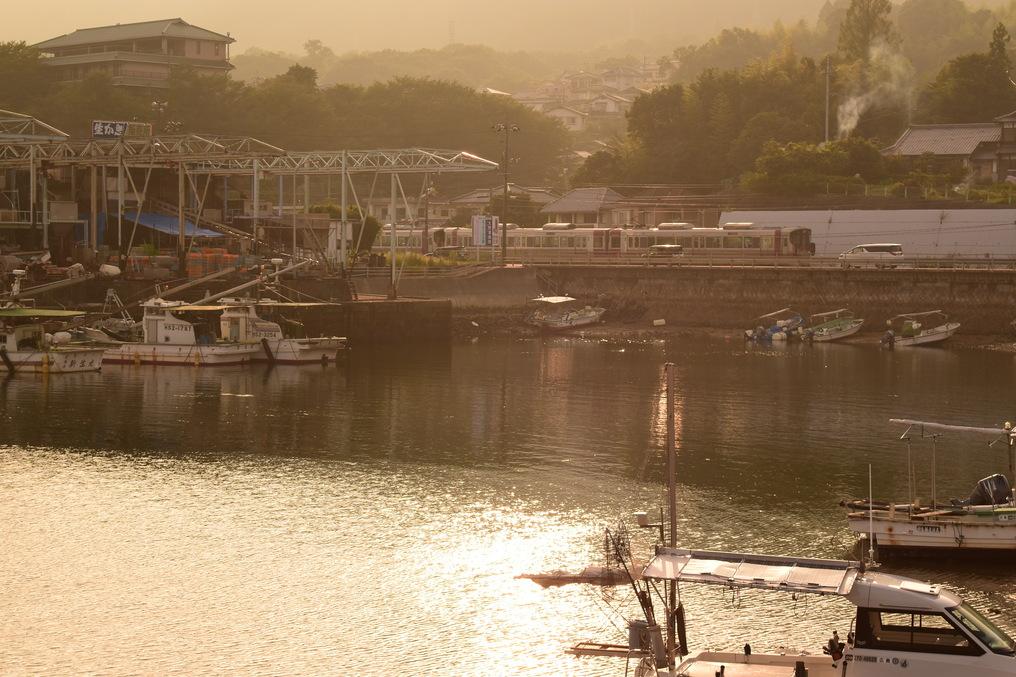 丸石港と227系