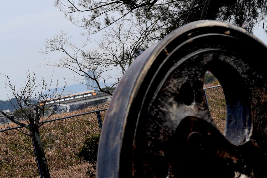 D51車輪とアストラムライン